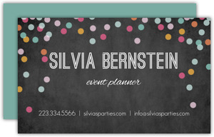 Chalk Confetti Business Card