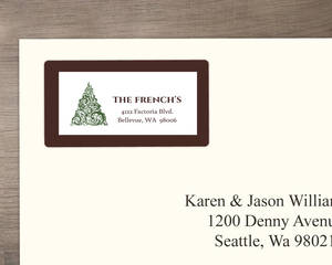 Elegant Green Holiday Address Labels