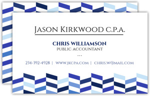 Shades of Blue Chevron Business Card