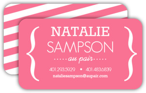Modern Pink Bracket Business Card