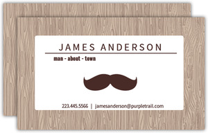 Mustache Man Business Card