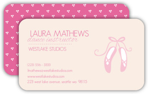 Ballerina Shoes Business Card