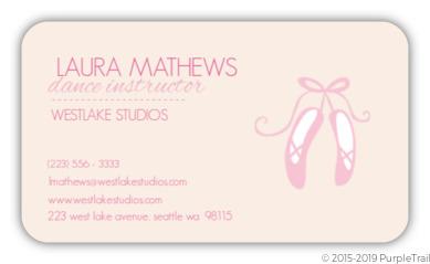 Ballerina Shoes Business Card