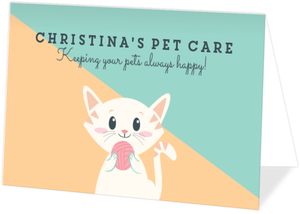 Kitty Pet Sitter Business Card