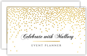 Faux Gold Party Confetti Business Card