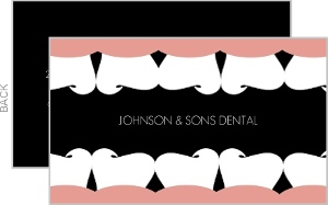 Rows Of Teeth Dental Business Card