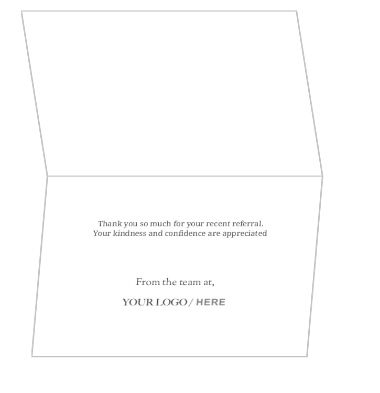 Blue and white tooth dental referral thank you card dentist expocarfo