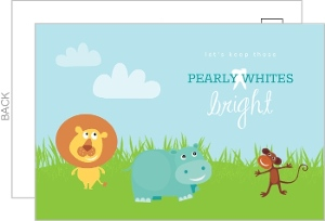 Smiling Animals Dental Business Postcard