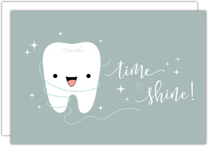 Time to Shine Dental Business Postcard