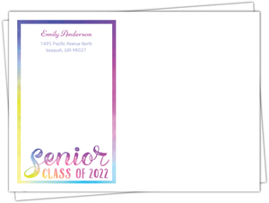 Colorful Watercolor Custom Envelope