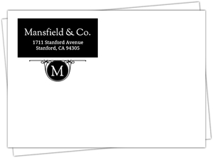 Black And White Classic Monogram Envelope
