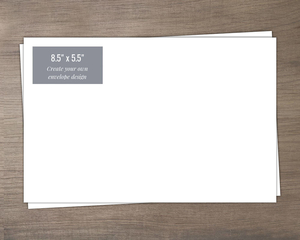 8.5x5.5 Create Your Own Envelope