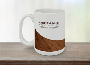 Carter & Wells Wood Grain Coffee Coffee Mug