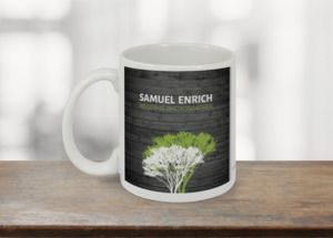 Rustic Green And Grey Tree Coffee Coffee Mug