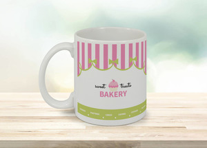 Pink And Green Bakery Coffee Coffee Mug