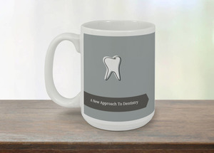 Gray And Black Tooth Dental Coffee Coffee Mug