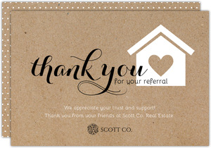 Kraft Heart Home Referral Thank You Card