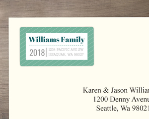 Modern Family Infographic Address Label