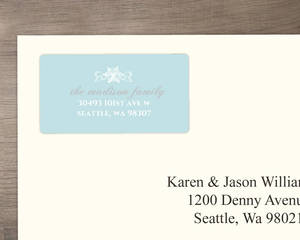 Blue Elegant Winter Wonderland Address Label