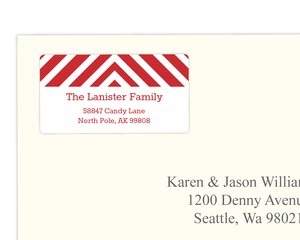 Red Chevrons  Address Label