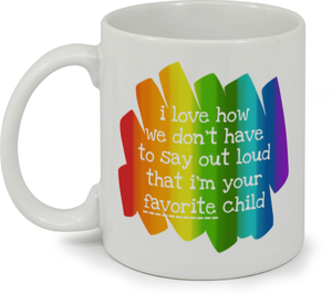 Colorful Favorite Child Father's Day Mug