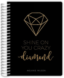 Faux Gold Glitter Diamond Daily Planner