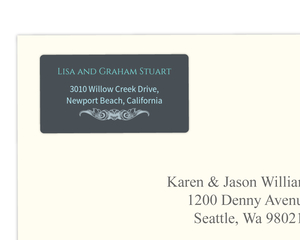 Gray and Teal Anniversary  Address Label