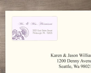 Elegant Lavender Floral Address Labels