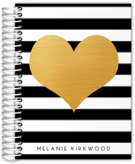 Modern Love Faux Foil Heart Teacher Planner
