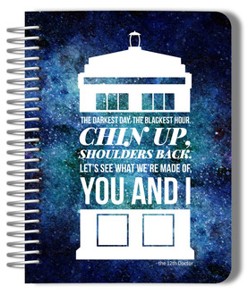 Galaxy Telephone Box Quote Monthy Planner