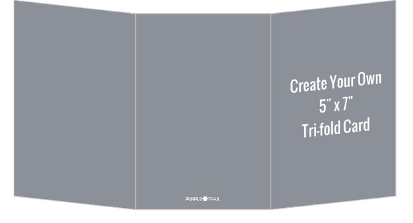 Create Your Own X TriFold Card  Create Your Own Cards