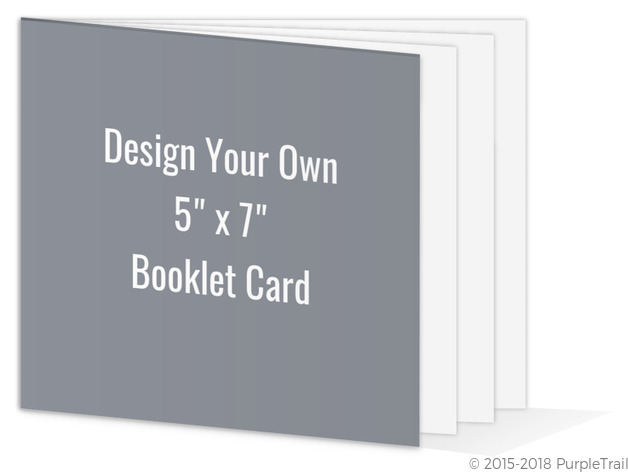 create your own 5x7 booklet card create your own cards