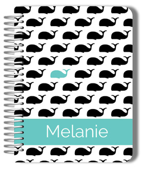 Modern Whale Monogram Wedding Planner