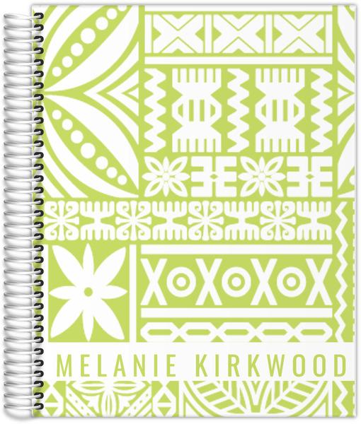 Tiki Tropical Pattern Custom Daily Planner Daily Planners - Custom daily planner