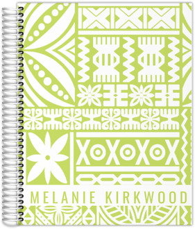 Tiki Tropical Pattern Custom Daily Planner