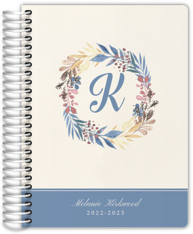 Whimsy Watercolor Wreath Teacher Planner