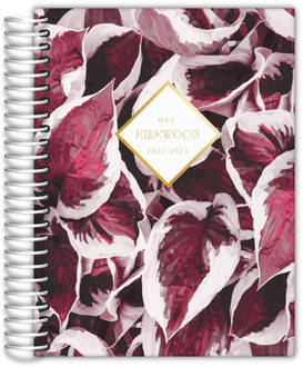 Pink Pothos Pattern Teacher Planner