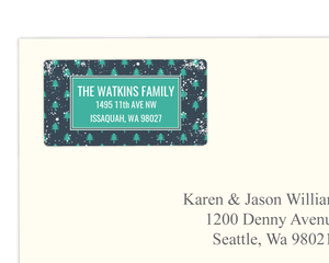 Whimsical Winter Trees Address Label