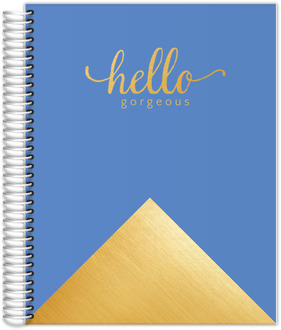 Faux Foil Gold Hello Gorgeous Meal Planner