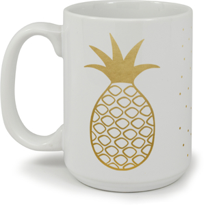 Faux Gold Be a Pineapple Mug
