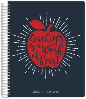Work Of Heart Small Teacher Planner