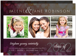 Through the Years Graduation Invitation