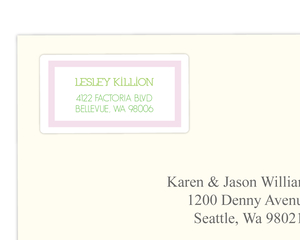Two Little Peas  Address Label