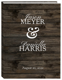 Dark Woodgrain Ampersand Wedding Planner