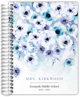Watercolor Anemones Teacher Planner