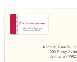 Sweet Pink Gingham Address Labels