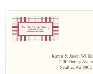 Sophisticated Pink and Brown Address Label