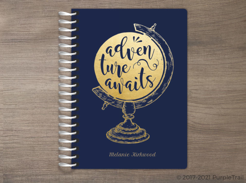 Faux Foil Adventure Globe Tiny Planner