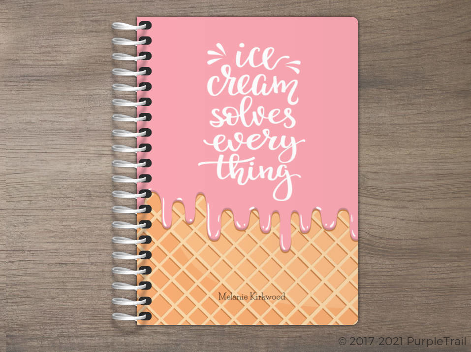 Ice Cream Melt Tiny Planner