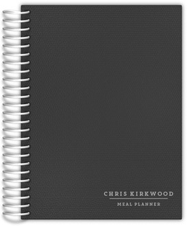 Dark Grey Classic Meal Planner